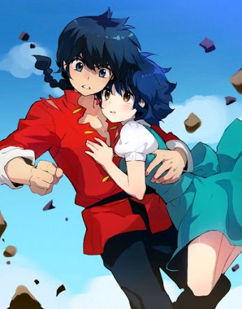 Ranma 1/2 is a comedy anime that jai and I like  watching together on Hulu. Good times, sometimes cheesy sometimes strange but laughs are good together  ranma 1/2