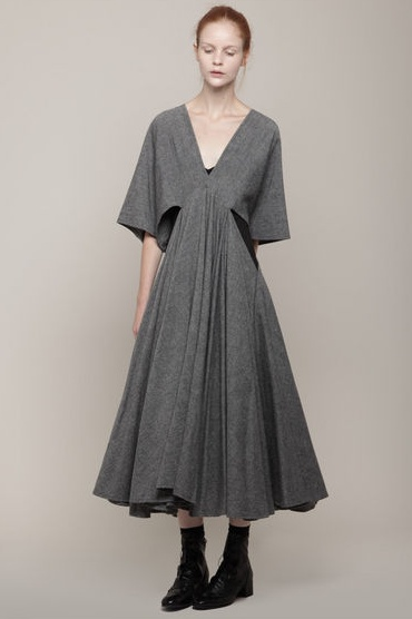 Limi Feu- trapeze neck dress