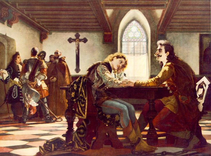 Madarász - Zrínyi és Frangepán - Fran Krsto Frankopan - moment  before their executed