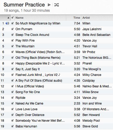 I always get a lot of request about playlists and music so I thought I would share a favorite playlist of mine right now. This one is absolutely perfect for a 90-minute practice! Start off slow and let your body ease it's way in. I love to spend lots of time on my back at …
