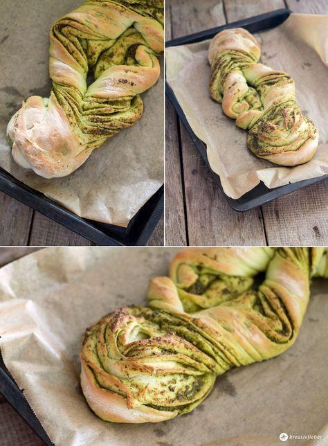 gedrehtes-Pestobrot---Mitbringsel-fürs-Partybuffet-backen---schönes-Brot-mit-Pesto-backen