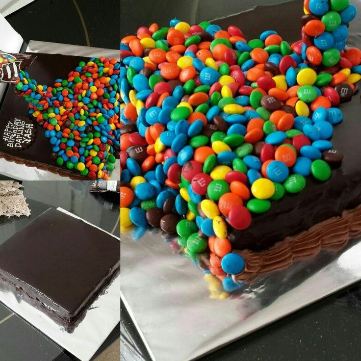 Eggless Chocolate Cake Best Selling 4 years running Chocolate Ganache Fudge MNM'S  Cascade Effect
