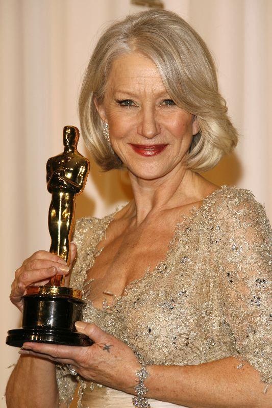 """Helen Mirren 2006.  Best Actress Oscar for her performance in the movie """"The Queen"""""""