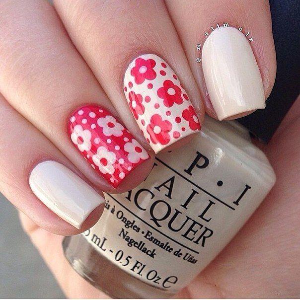 Cheerful nails, Daisies on nails, Daisy nails, flower nail art, Flowers on nails, Milky nails, Nails with daisies, Slider nails