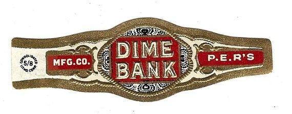 Dime Bank Vintage Bauchbinde 1920er Jahre von thecollectiblechest