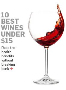 The 10 best wines under 15 bucks.: Best Cheap Wine, Health Food, Fun Wine Drinks, Red Wine, Cheap Party Drinks Alcohol, Cheap Alcoholic Drinks, Best Wine, Good Wine