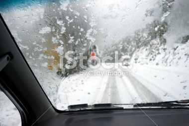 Driving in Snow Royalty Free Stock Photo