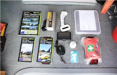 Media Package and Travel Maps are just some of the equipment you will in any of our Campers without any additional costs. Enjoy the ride :)