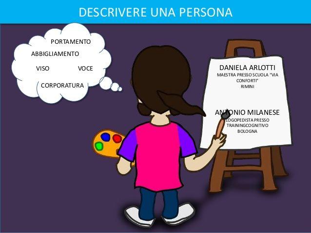 Descrivere una persona