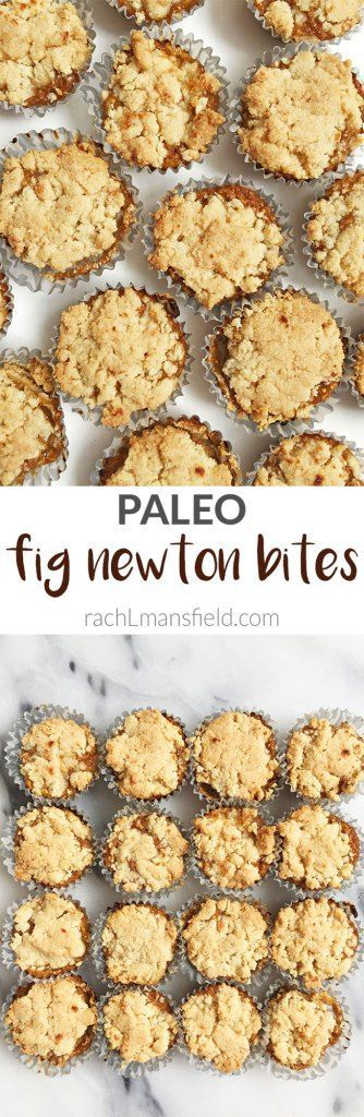 Paleo Fig Newton Bites made with almond and coconut flour and filled with a homemade fig jam! So easy to make and perfect for a sweet fig newton craving.