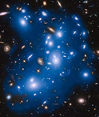 Hubble sees ghost light from dead galaxies in galaxy cluster Abell 2744- Pandora's Cluster.