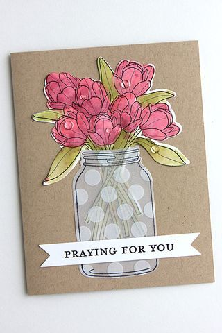 Praying For You Card by Heather Nichols for Papertrey Ink (June 2015)