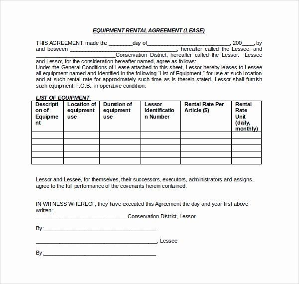 Equipment Lease Agreement Template Word New 11 Equipment Lease Forms To Download F Contract Template Rental Agreement Templates Creative Business Plan Template