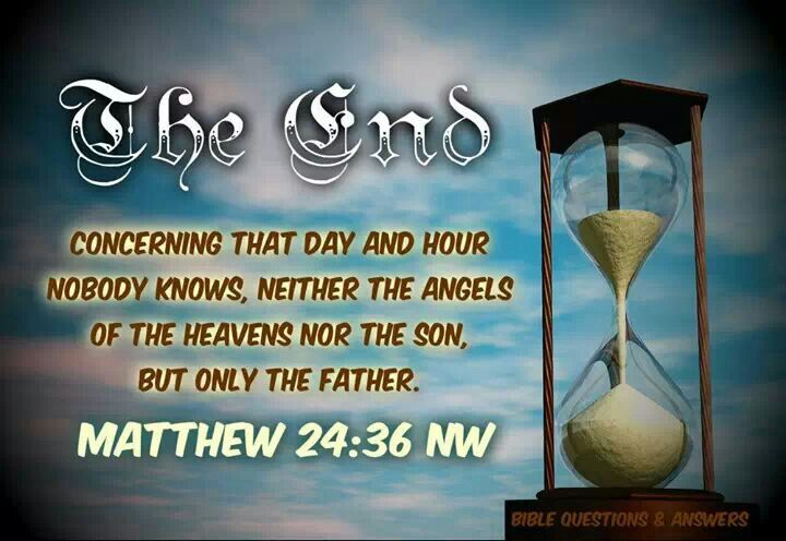 Only God Knows.. Not Jesus.. Not the Angels.. Only God! If Jesus was our heavenly father Jehovah God.. dont you think it would say that Jesus would know?