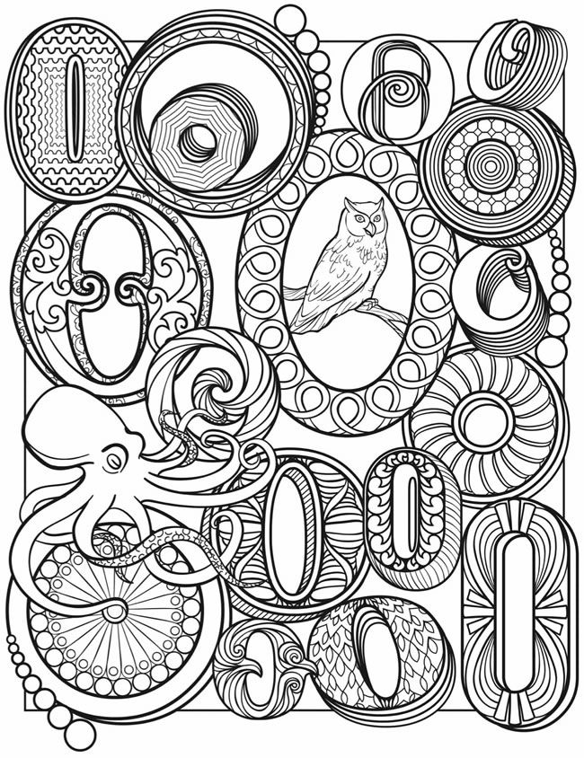 welcome to dover publications owl coloring pagesalphabet