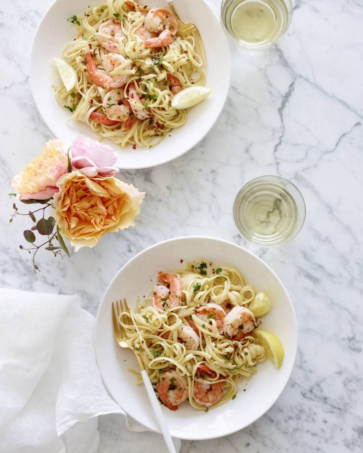 The Ultimate Garlic Shrimp Scampi from www.whatsgabycook… (What's Gaby Cooking…
