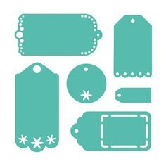 Troquel Tags First Edition para Sizzix