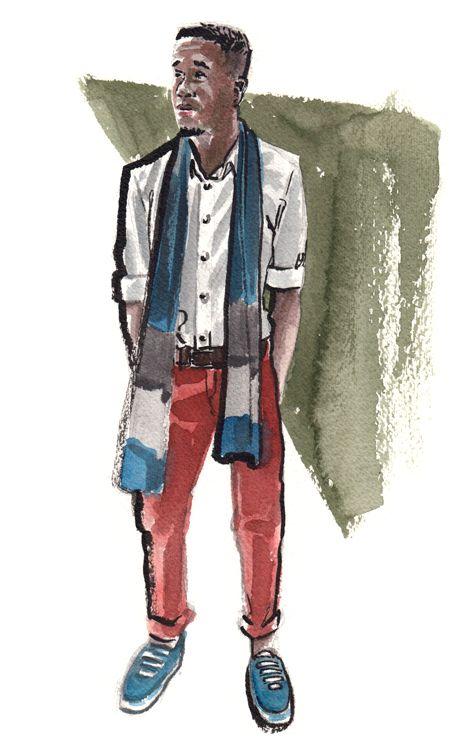 Daily Fashion Illustration 228, Montavious Whiters