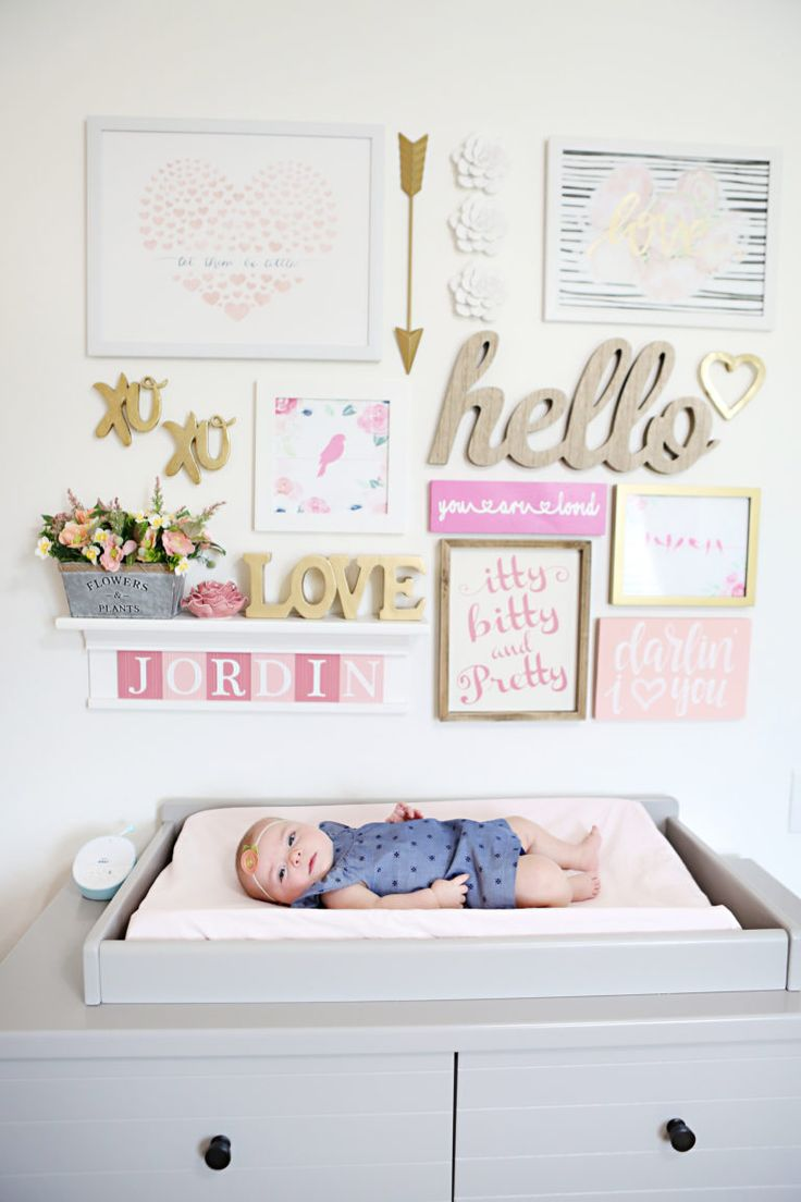 25 best ideas about nursery gallery walls on pinterest gallery wall blue kids rooms and - Wall decor girl nursery ...