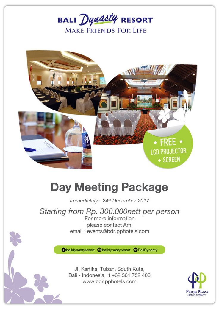 Day Meeting Package at Bali Dynasty Resort #BaliDynastyResort #BaliPlusMagazine #BaliPlusInYourHand #BaliPlus #BaliMagazine #Magazine #Bali