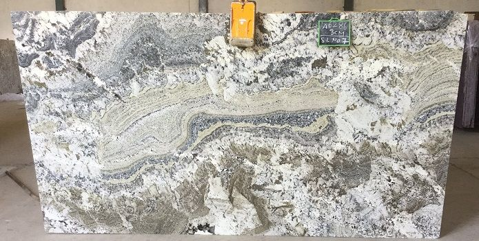 Bright Flowing Lines Of Azul Nova Granite Seen In Slab Form Here At Boston Granite Exchange Granite Quartz Stone Natural Stones