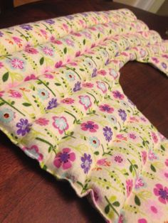 rice heating pad:  leftover scrap fabric, rice, and essential oils. No pattern included.