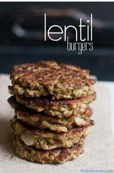 Lentil Burgers are the perfect breakfast, lunch, or dinner #glutenfree @Vegetarian Diet #vegan |@Susan Caron Salzman | www.theurbanbaker.com