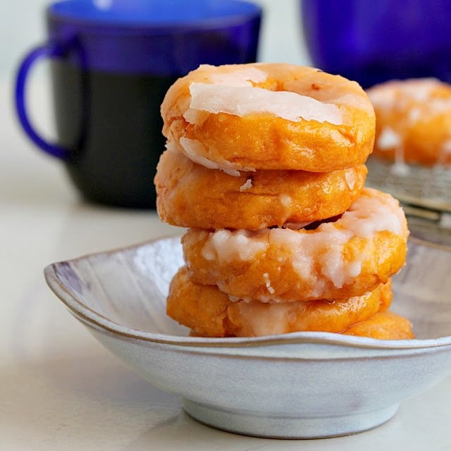 baked kueh keria - sweet potato donuts yum