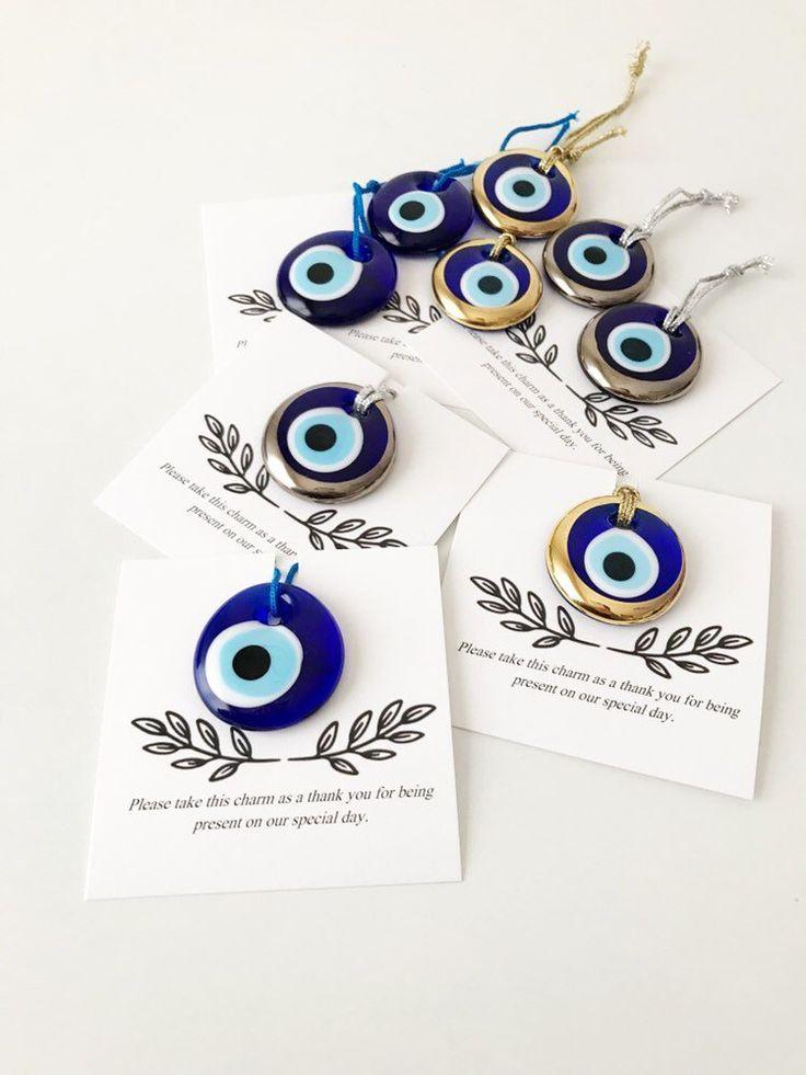 Unique wedding favor, 50 pcs, blue evil eye, greek wedding favors, bulk gift, wedding favors for guests, gold evil eye bead, evil eye