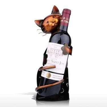 Yoga Cat Wine Rack Practical Sculp Home Decor