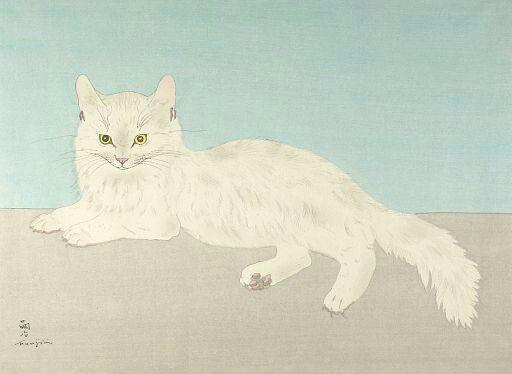 Foujita Tsuguharu, 1935, Witte kat