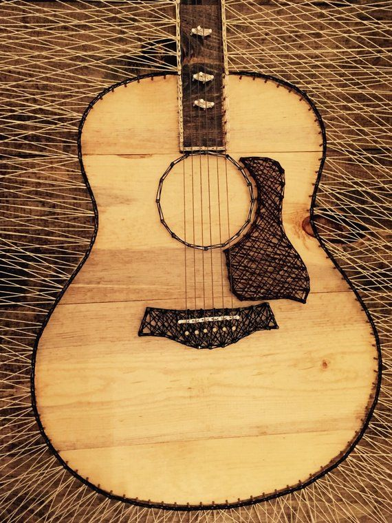 Taylor 818 Acoustic Guitar String Art Etsy