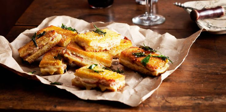 Mini sandwichs chauds façon croque-monsieur