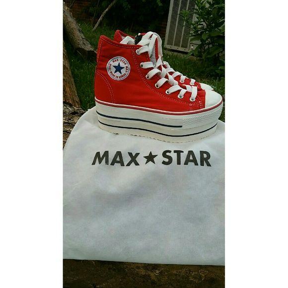 Max Star platform converse Red platform Converse Platform is 6.5cm Shoes Platforms