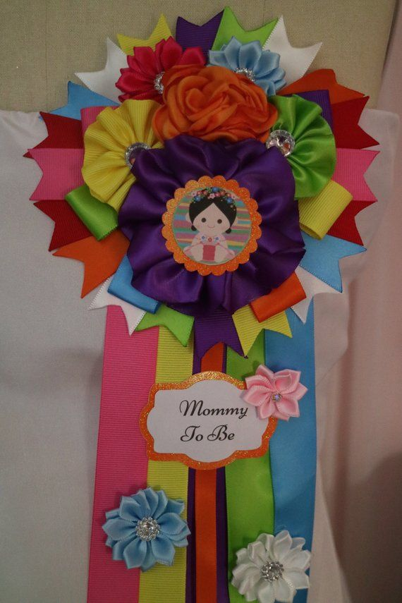 Fiesta Baby Girl Floral Themed Mommy To Be Baby Shower Corsage