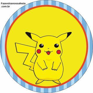 Pokémon - Kit Completo com molduras para convites, rótulos para guloseimas, lembrancinhas e imagens!