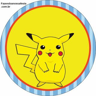 Pokémon - Kit Completo com molduras para convites, rótulos para guloseimas…