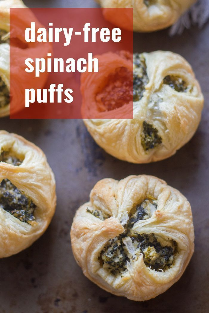 Dairy Free Spinach Puffs In 2020 Dairy Free Appetizers Vegan Party Snacks Vegan Snack Recipes