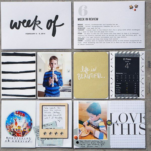 2014 Project life week 6 left by Kelleanne at @Studio_Calico