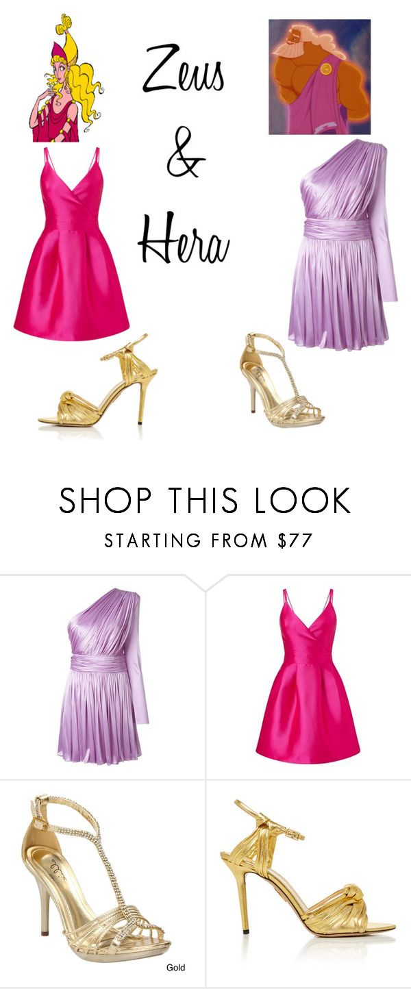 """""""Zeus & Hera ~ Hercules"""" by miahadams ❤ liked on Polyvore featuring Hera, FAUSTO PUGLISI, Miss Selfridge, Ellie and Charlotte Olympia"""