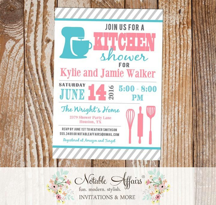 Kitchen Pantry Shower Housewarming Party Stock the House Invitation