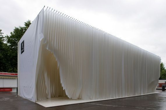Image result for fabric pavilion in forest