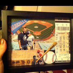 Sports Shadow Box Ideas Baseball shadow box