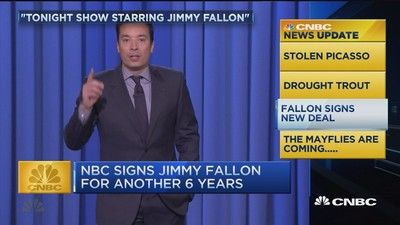NBC's Jimmy Fallon has signed a six year deal; and a massive swarm of mayflies invades a Mississippi neighborhood, reports CNBC's Sue Herera.