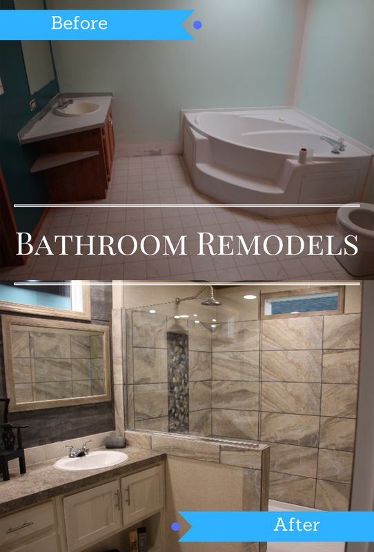 Transform That Old Garden Tub To The Ultimate Standing Mobile Home Shower. SEE THESE PHOTOS! Amazing Transformation Of A Mobile Home Bathroom.