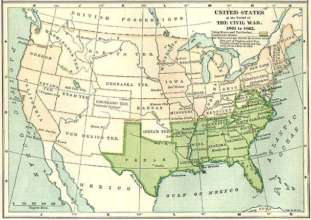 Us Map Of The Civil War Us Map Of The United States - Us map civil war
