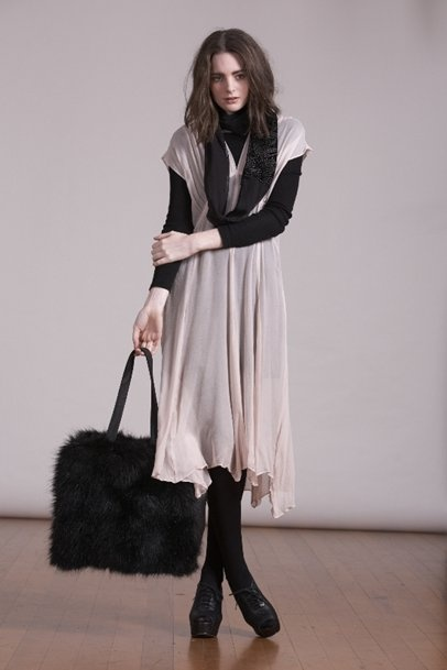 Kingan-Jones - Freedom Dress with Fur Tote