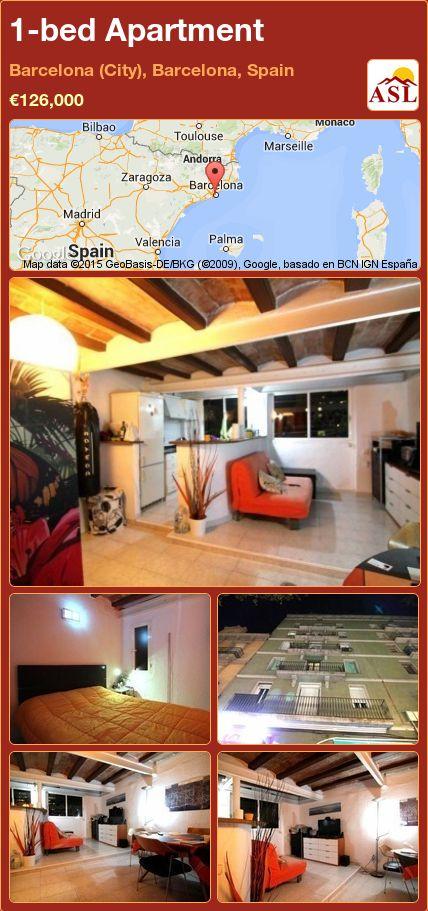 1-bed Apartment in Barcelona (City), Barcelona, Spain ►€126,000 #PropertyForSaleInSpain