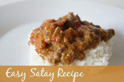 Easy recipe to make a tasty satay dish using the slow cooker. Can easily be varied for lamb, beef or chicken.