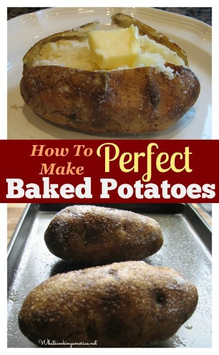 How To Make Perfect Baked Potatoes  | whatscookingamerica.net  | #baked #potatoe #cooking #hints #tips